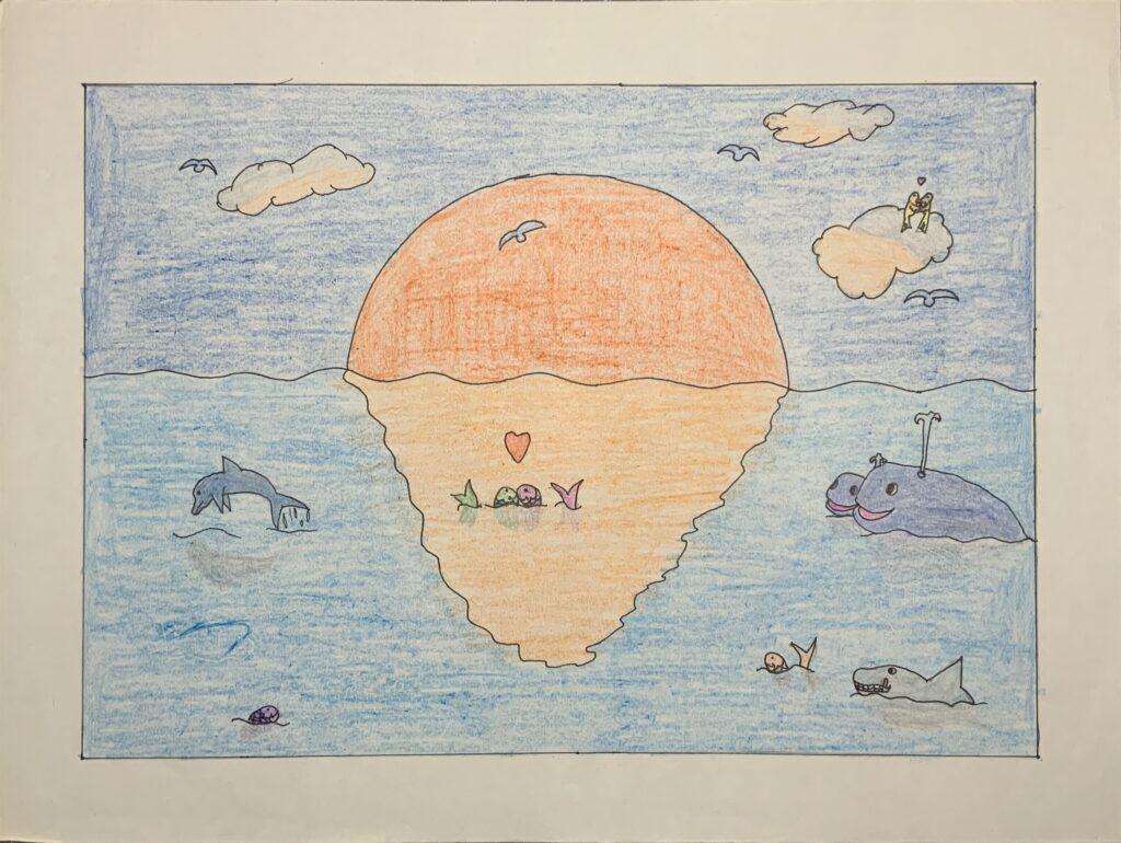 Zeichnung aus der Grundschule